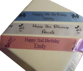 Child's personalised birthday ribbon age 1 - 10