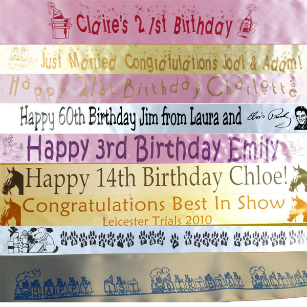 Personalised 18th, 21st, 30th,  birthday banner