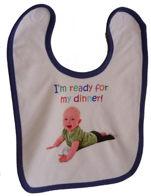 PERSONALISED BABY BIB newborn baby or christening gift