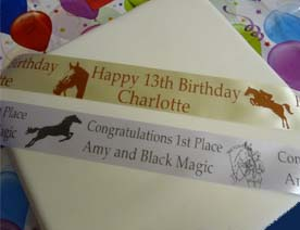 PERSONALISED HORSE THEME RIBBON