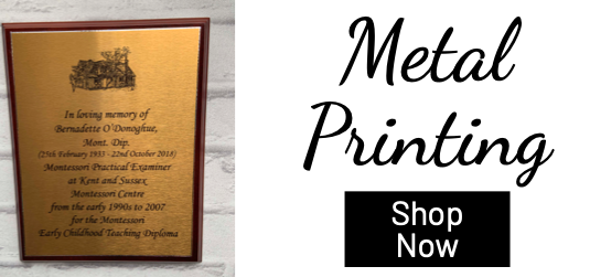 customised metal plaque